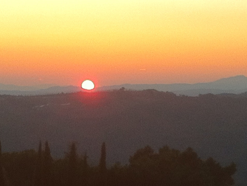 Sunset In Wine Country Italy
