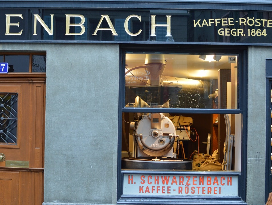 A Coffee Institution in the Altstadt Zurich  Switzerland