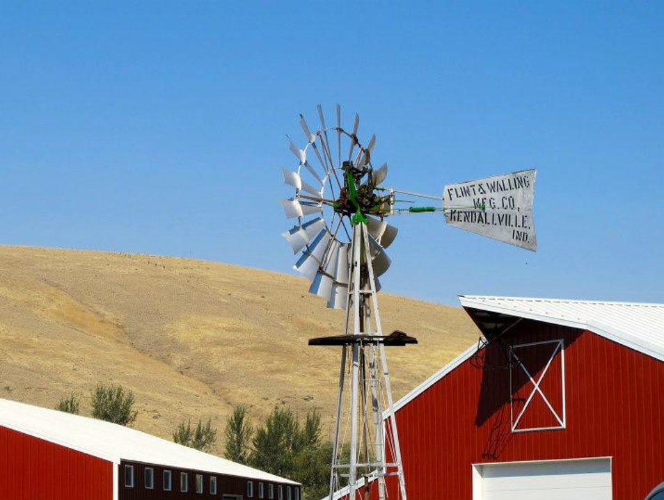 Barn Tops in Eastern Washington Pomeroy Washington United States