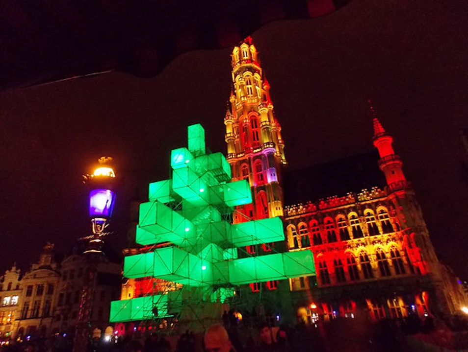 a non-Christmas tree in Brussels Brussels  Belgium