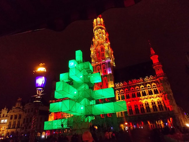 a non-Christmas tree in Brussels