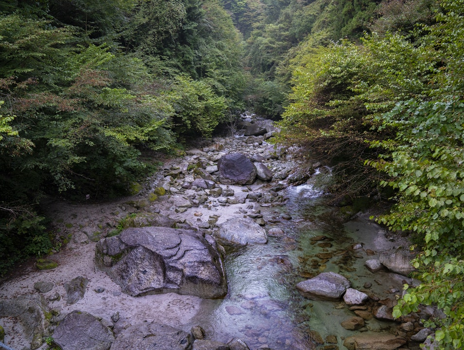 Slow Down at Kaikomagatake Shrine and Ojiragawa River Hokuto  Japan