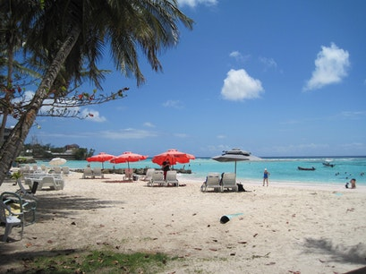 Carib Beach Bar - Worthing Beach, Barbados Christ Church  Barbados