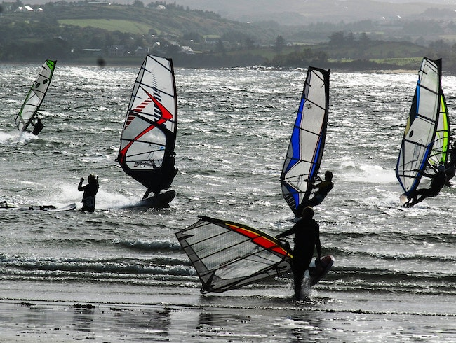 Windy Surf in Ireland