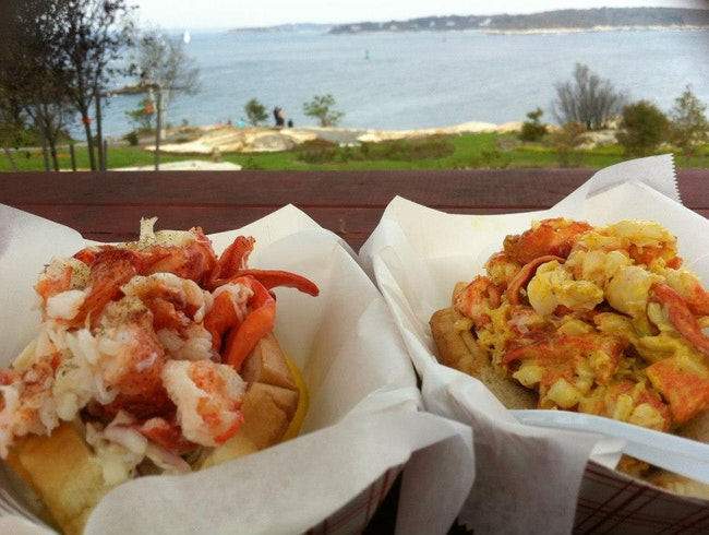 Lobster rolls in Maine.  Enough said.