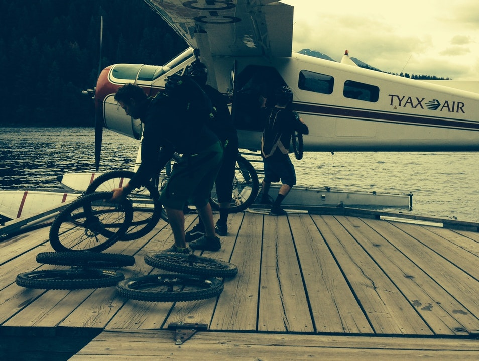 Floatplane Drop to Epic Mountain Bike Ride Pavilion  Canada