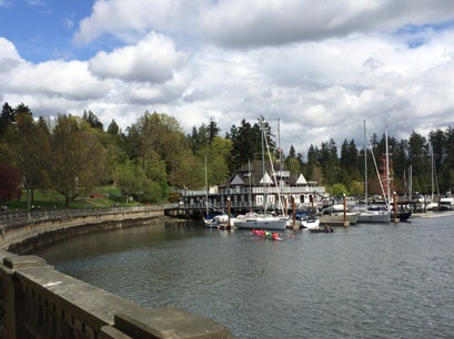 Stanley Park Harbourfront Seawall Vancouver  Canada