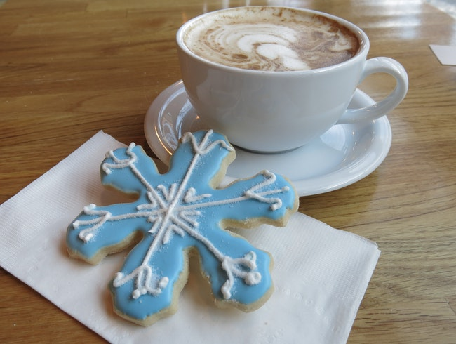 Coffee and Cookies at Lovely Too