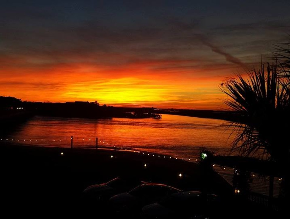 Sunset from the Crows Nest Bar at the Boat House Isle of Palms South Carolina United States
