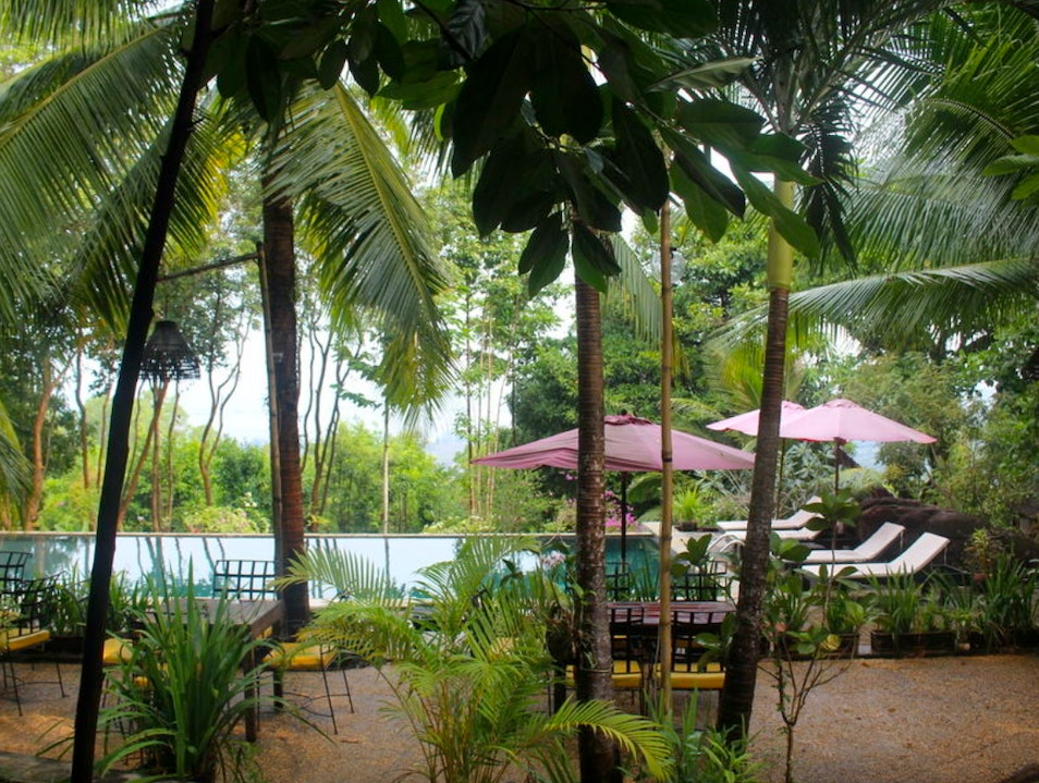 Lunch and a swim at Pagoda Rocks Boutique Hotel Krong Preah Sihanouk  Cambodia