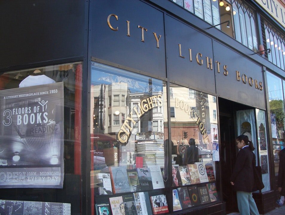 Learn about the Beats at City Lights Bookstore in North Beach San Francisco California United States