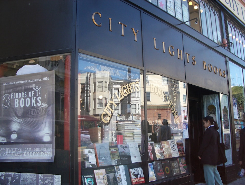 Learn about the Beats at City Lights Bookstore in North Beach