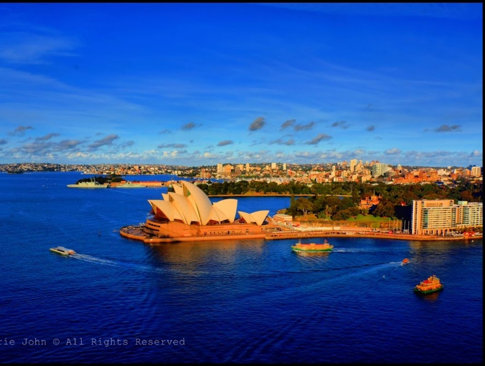 Climbing Up the Pylon Lookout in Sydney The Rocks  Australia