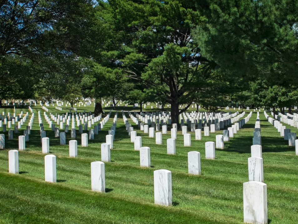 A Time for Reflection at the Arlington National Cemetery Arlington Virginia United States