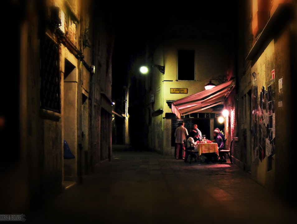 Late night dining in Venice, Italy
