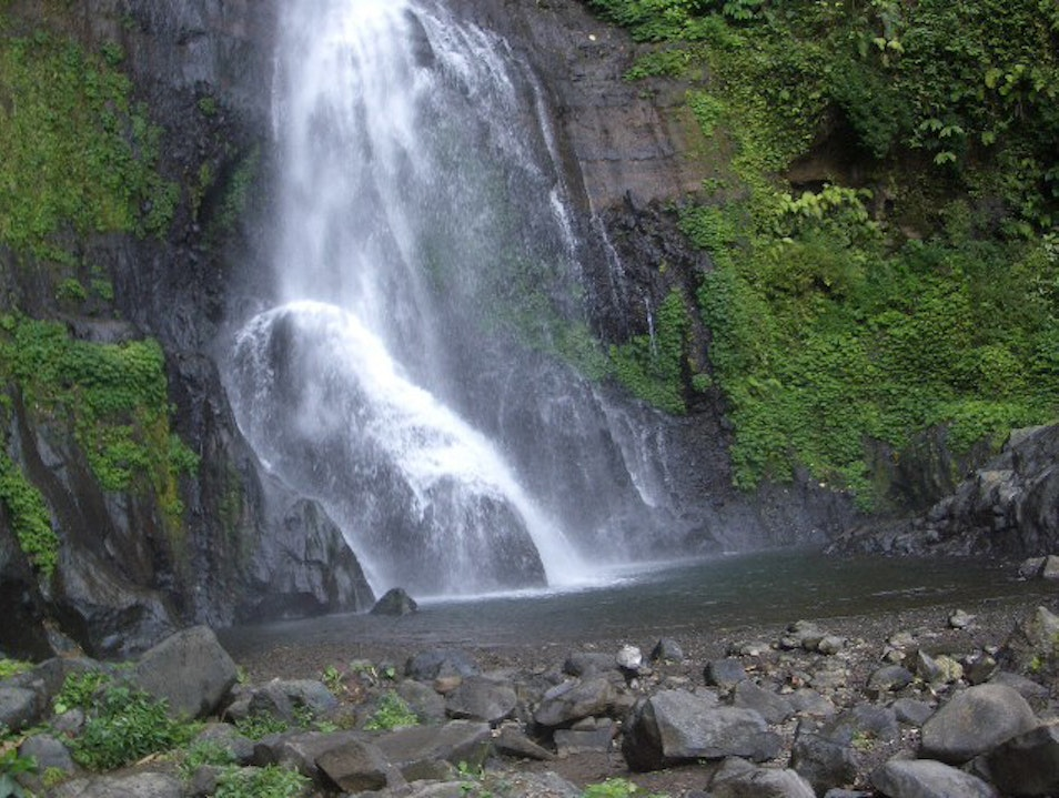 Cool Down in a Waterfall Gitgit  Indonesia