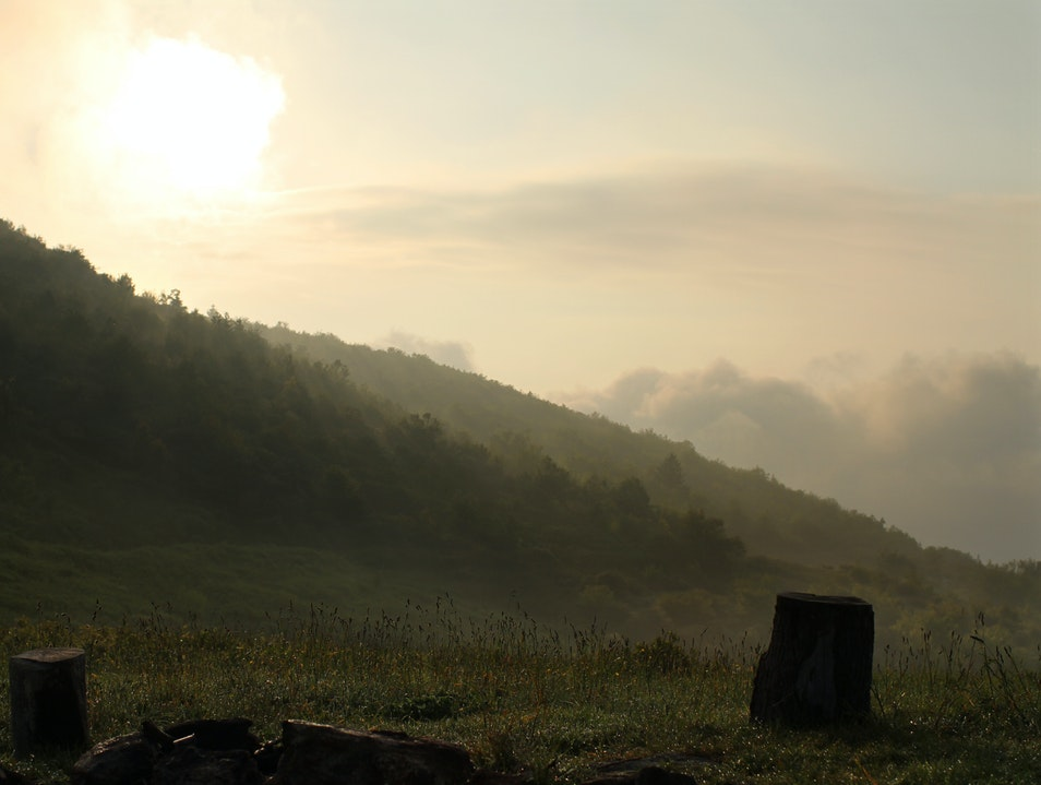 Sunrise on Sam Knob, Pisgah National Forest