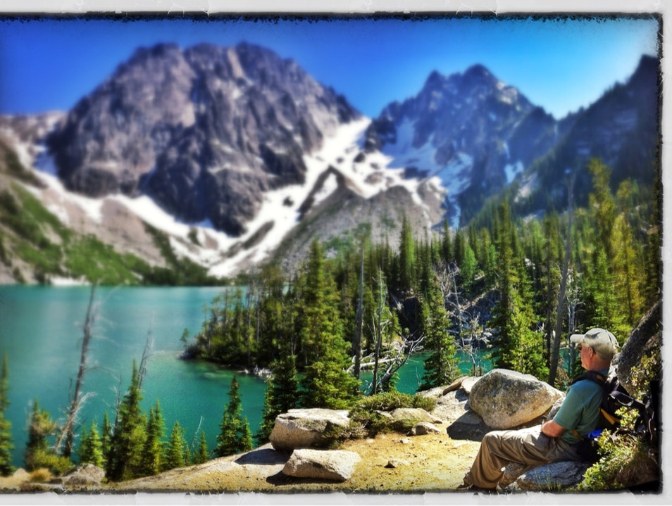 Facing Dragon Tail; summer in the Alpine Lake Wilderness Leavenworth Washington United States