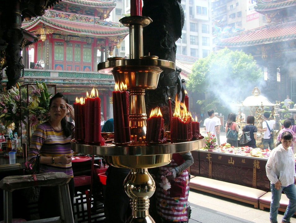 Light a Candle at Longshan Temple Wanhua District  Taiwan