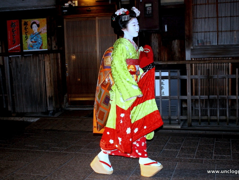 Geisha-spotting in Gion Kyoto  Japan