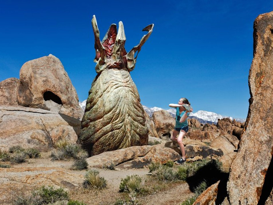 Fighting Tremors like Kevin Bacon Lone Pine California United States