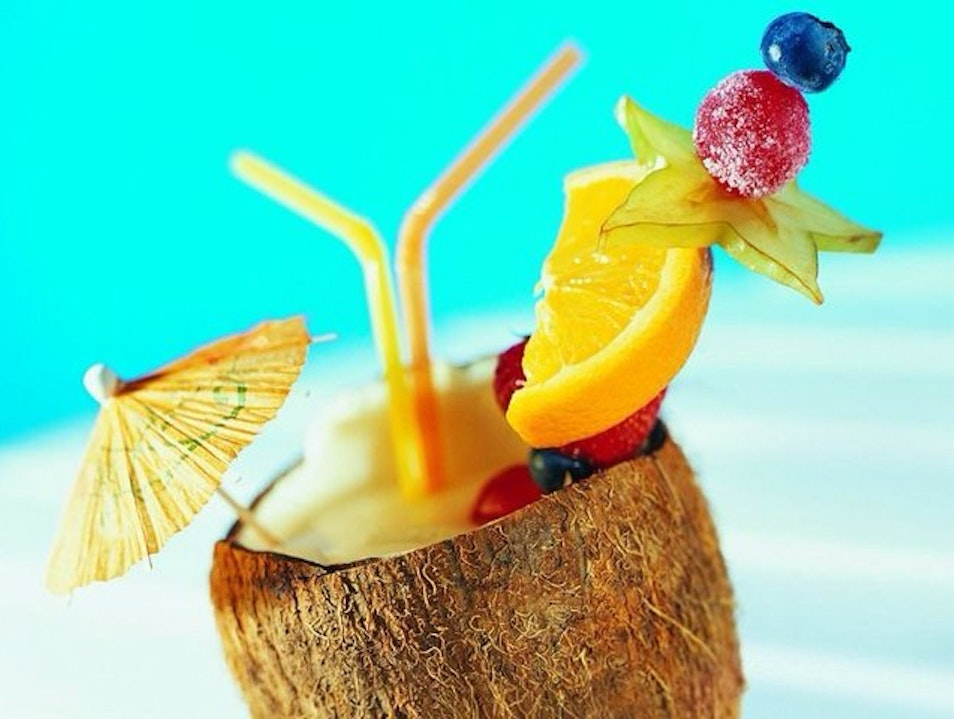 Meet at the Tiki Hut for Happy Hour