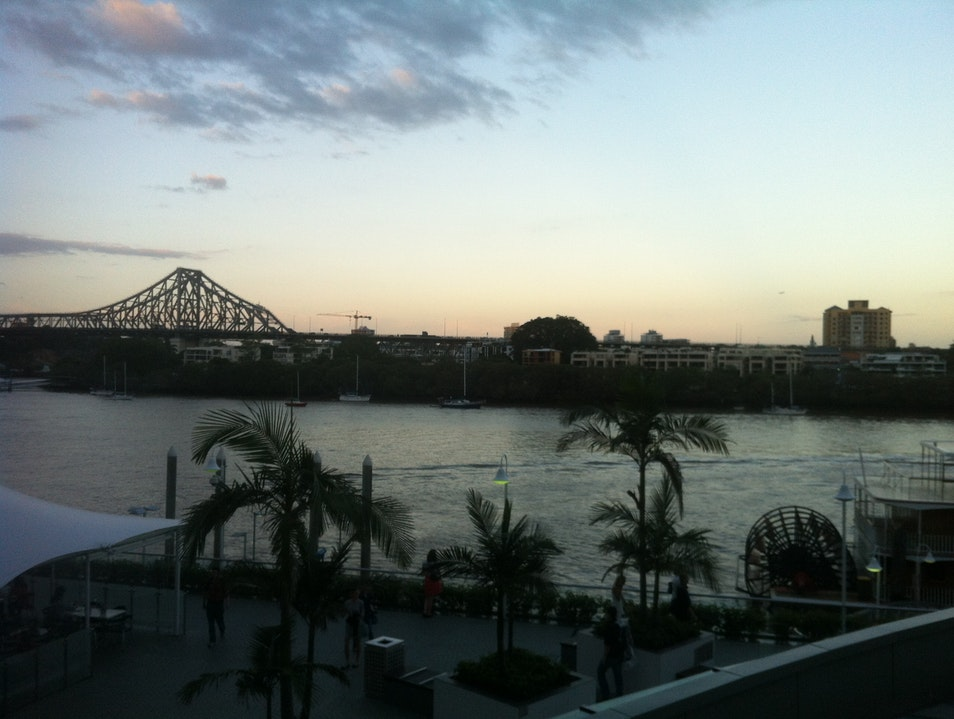 Friday after work drinks on Eagle St Pier Brisbane City  Australia