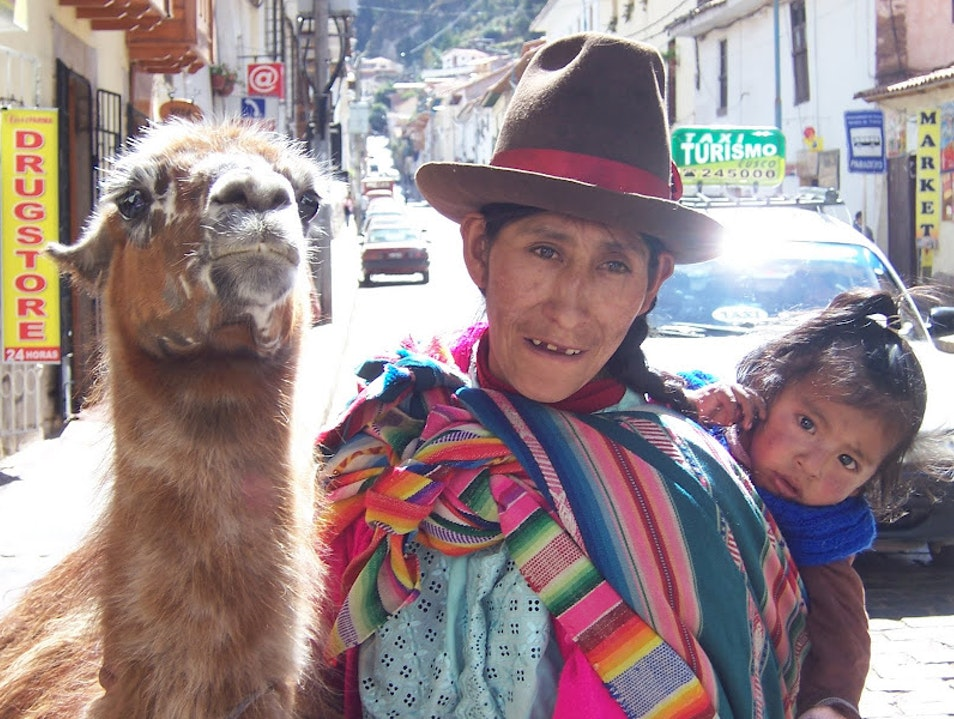 Chilly mountain air and a warm Andean welcome. Cuzco  Peru