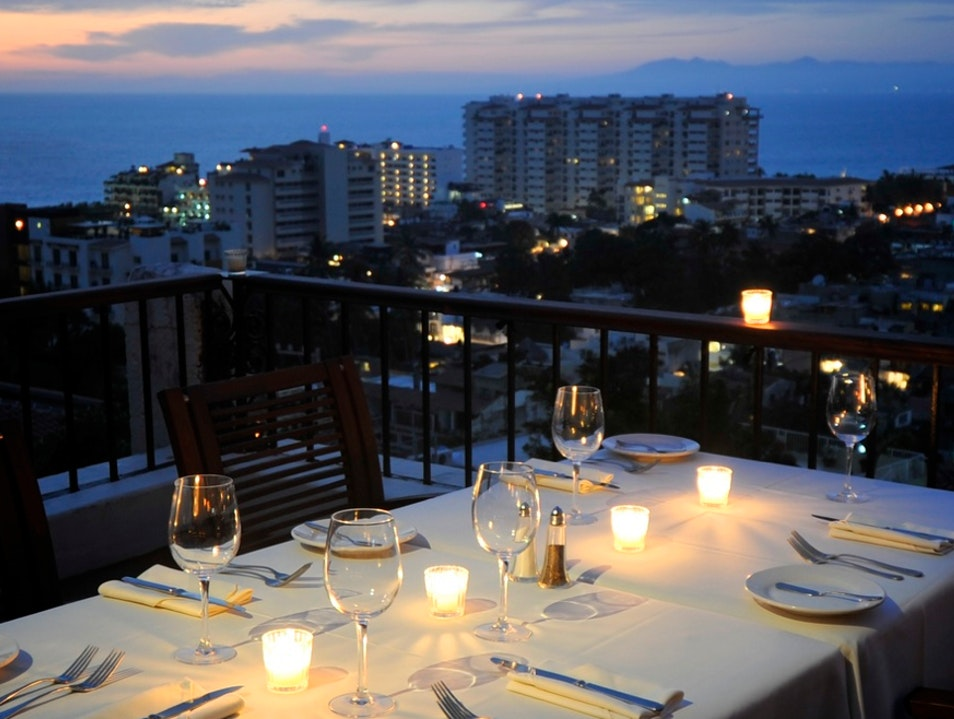 Dinner with a View at Vista Grill  Puerto Vallarta  Mexico