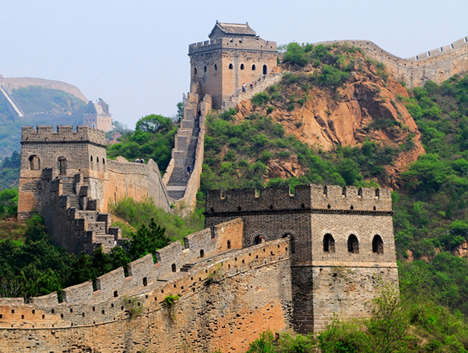 Afternoon stroll on the Great Wall