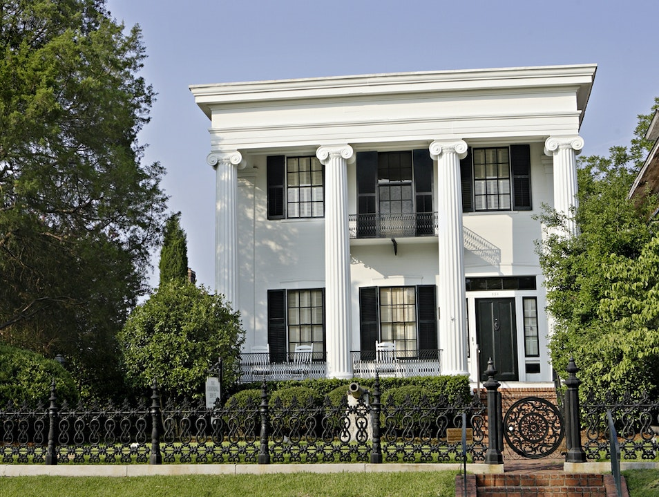 Historic Home Damaged by Cannonball Macon Georgia United States