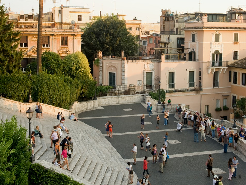 A View over the Spanish Steps Rome  Italy