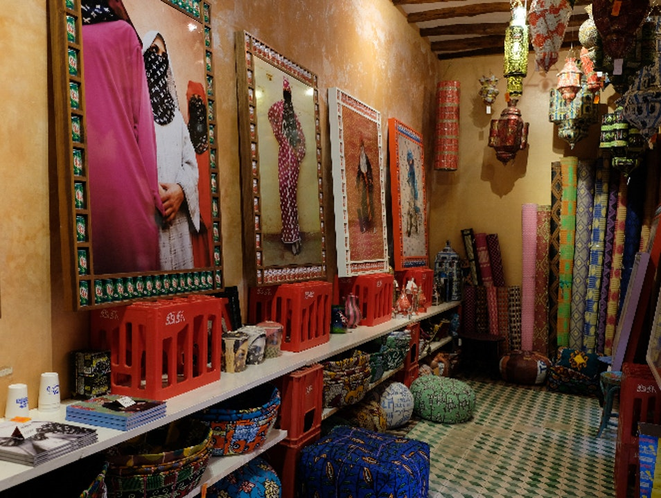 Artist Hassan Hajjaj's Studio and Tearooms Marrakech  Morocco