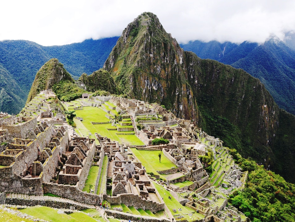 View from the Sun Gate Santuario Historico Machu Picchu  Peru