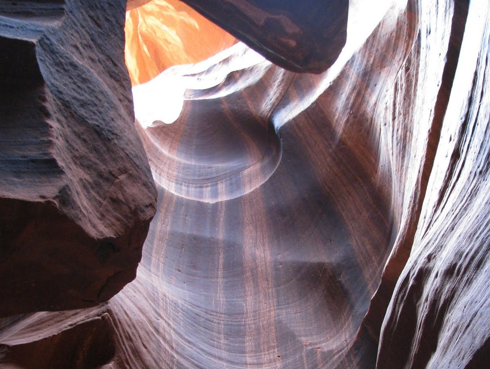 Inside the Erosion Page Arizona United States