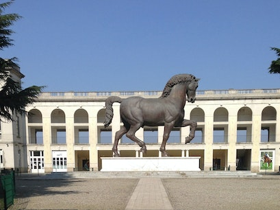 Gallop Horse Track Milan  Italy
