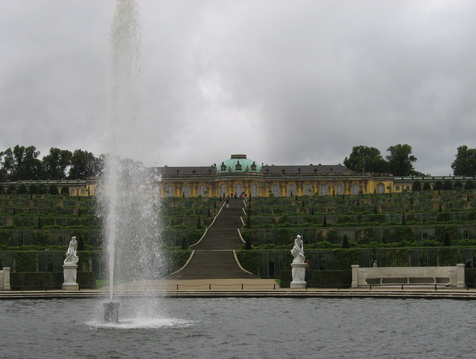 Sans Souci:  Without Cares on a Rainy Day in Potsdam Potsdam  Germany