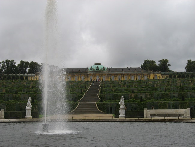 Sans Souci:  Without Cares on a Rainy Day in Potsdam