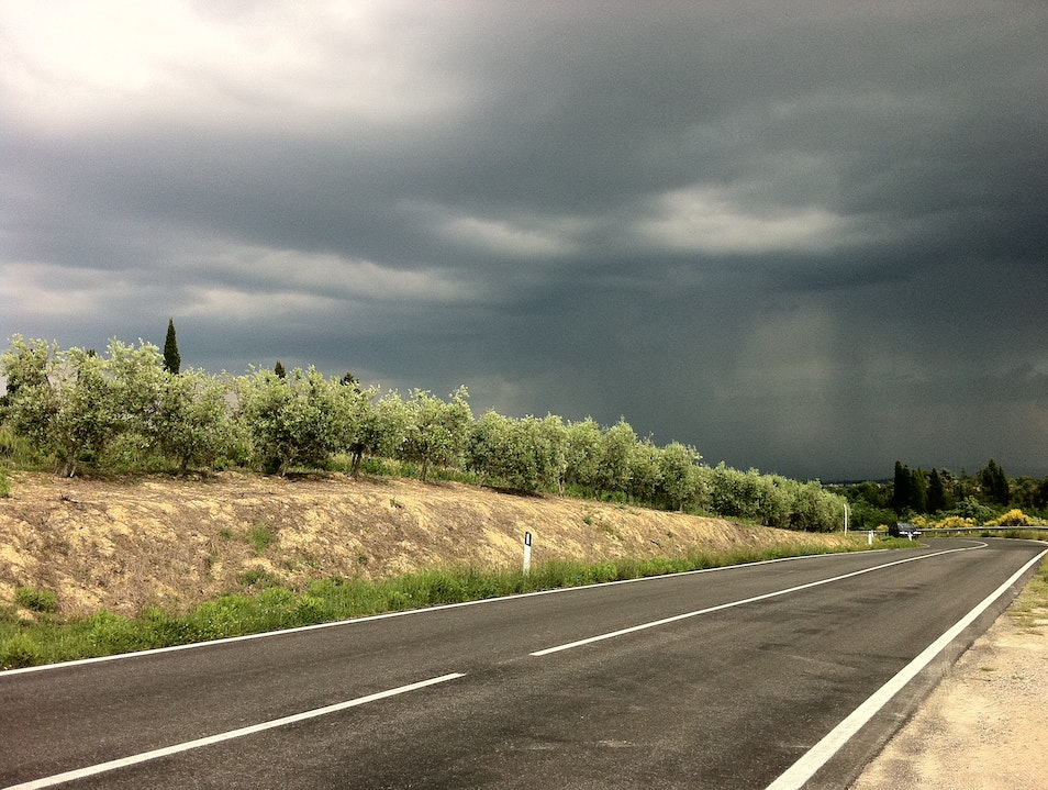 .. upcoming storm.. Montepulciano  Italy