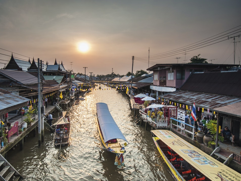 Browse from a Boat at one of Bangkok's Floating Markets Amphawa  Thailand