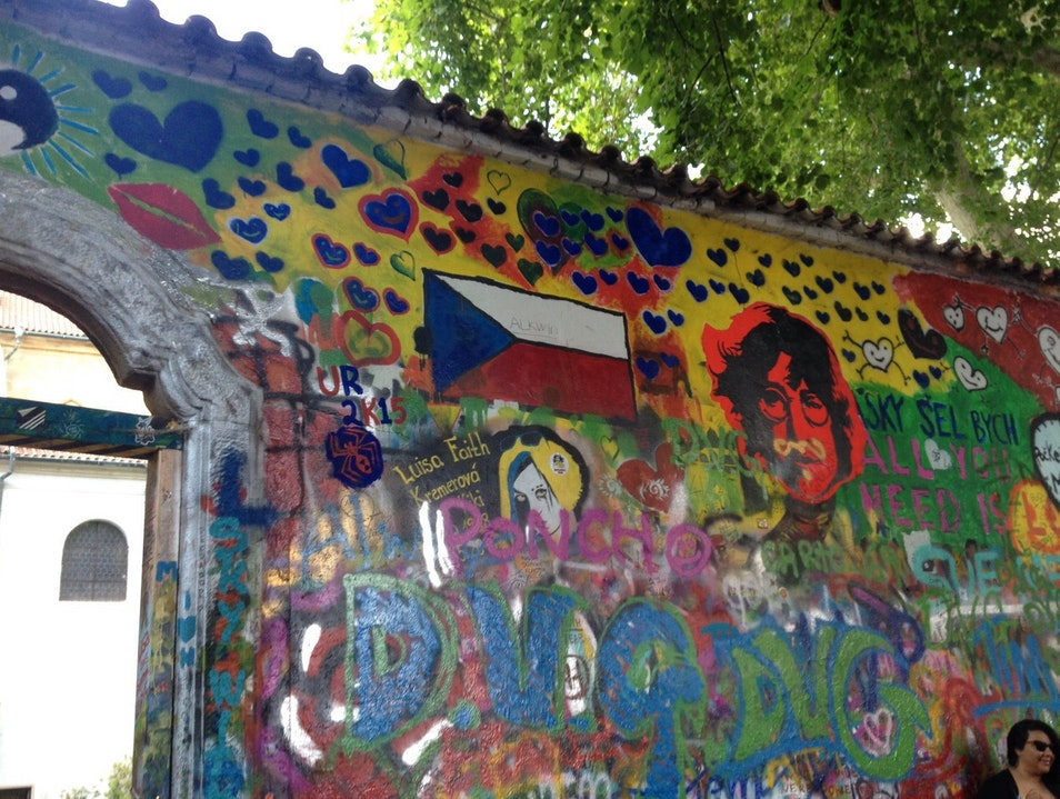Lennon Wall  Prague  Czech Republic