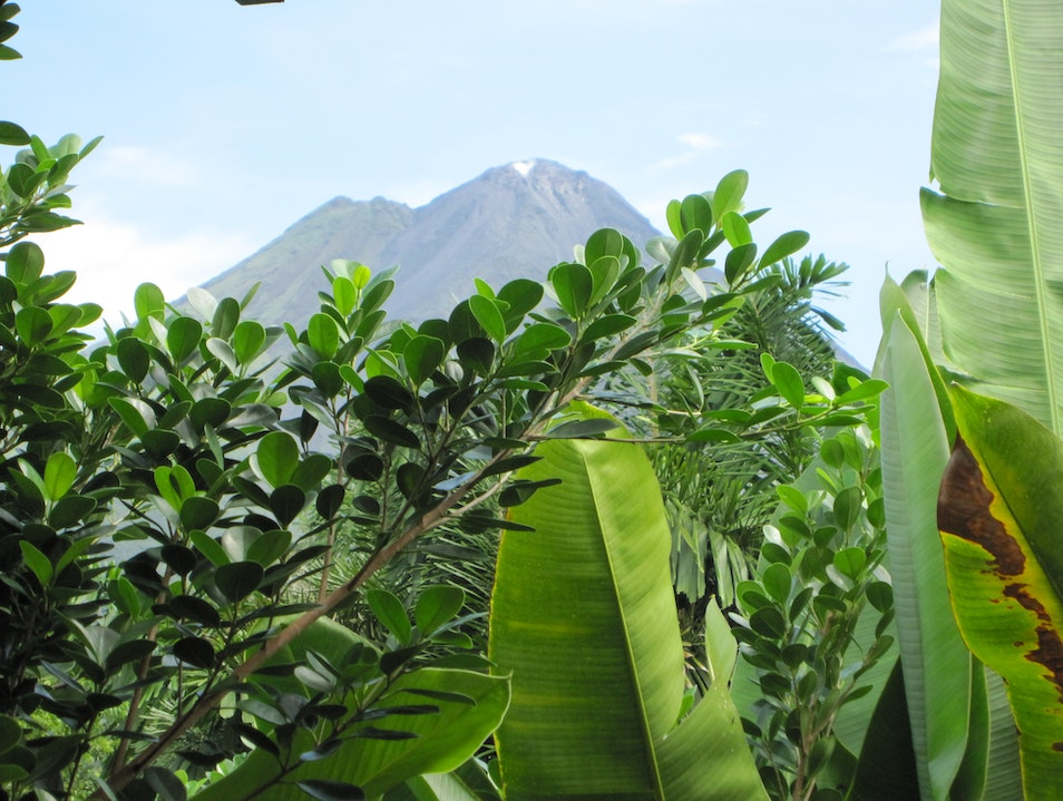 Hypnotic view of majestic volcano. Arenal Volcano National Park  Costa Rica