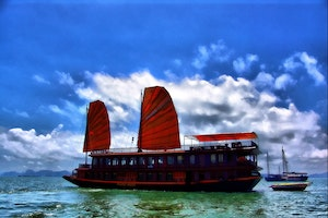 Luxury Junk on Ha Long Bay