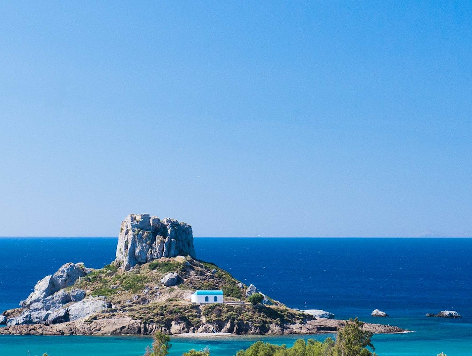 Picture This Little Island Near Agios Stefanos Beach Kampos  Greece