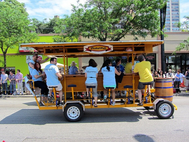 All Aboard the Pedal Pub