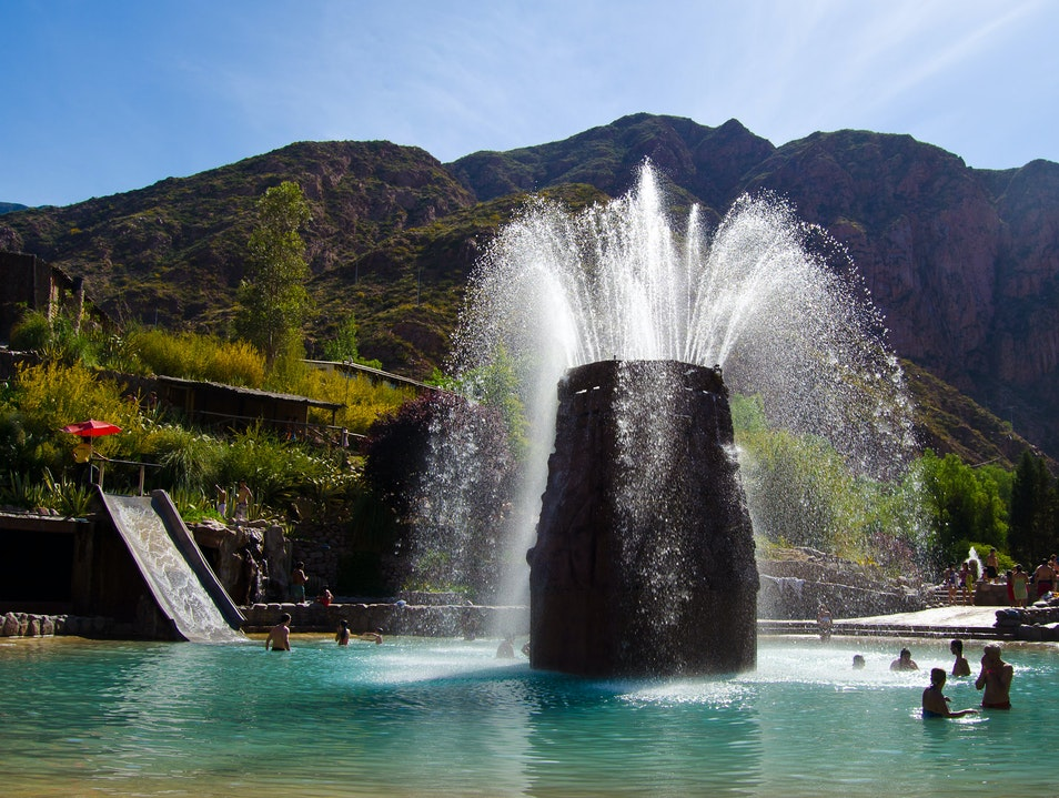 Visit a Thermal Water Park in the Andes Mountains