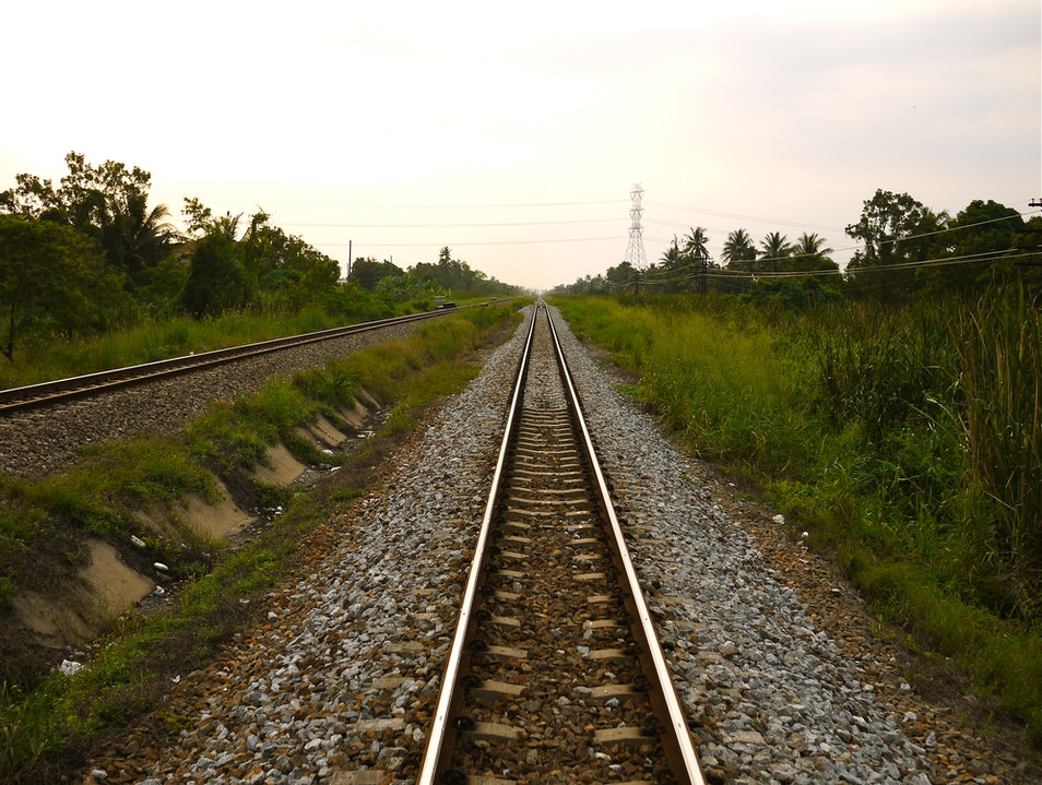 What is it about train tracks?