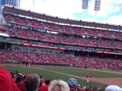 Box Seats At reds Game Cincinnati Ohio United States