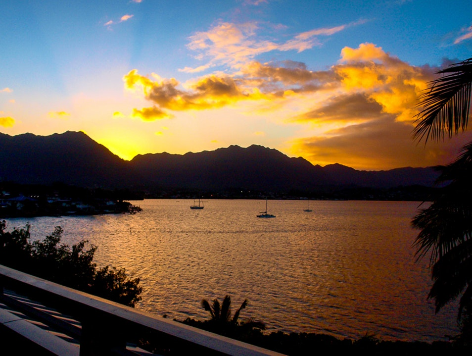 Beautiful Evening for a Hawaiian Sunset Kaneohe Hawaii United States