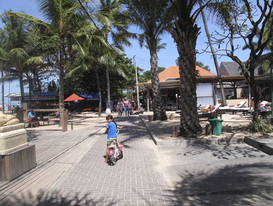 Cruising on Sanur's Boardwalk Denpasar  Indonesia